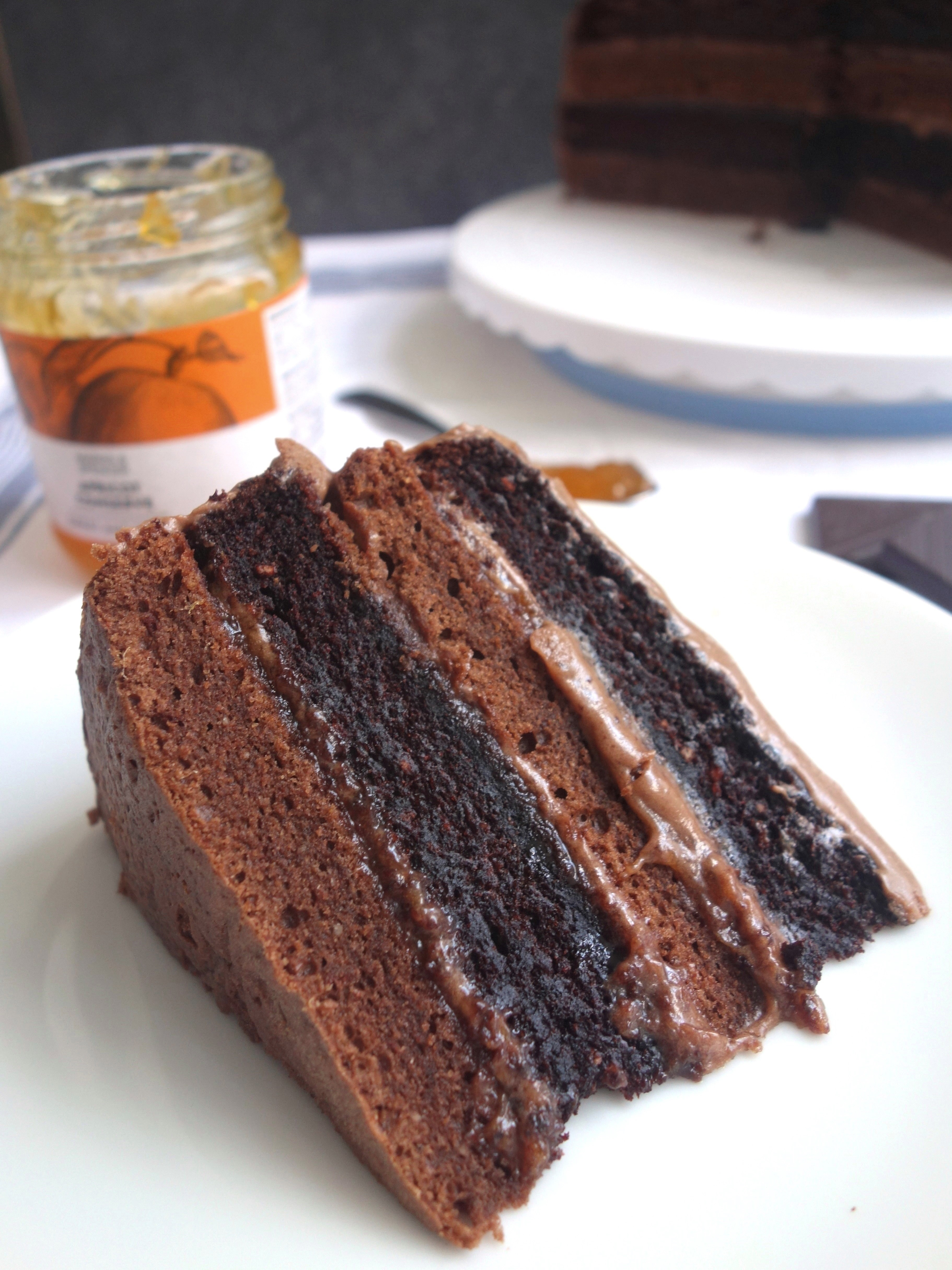 chocolate torte cake sacher torte a dash of 2911