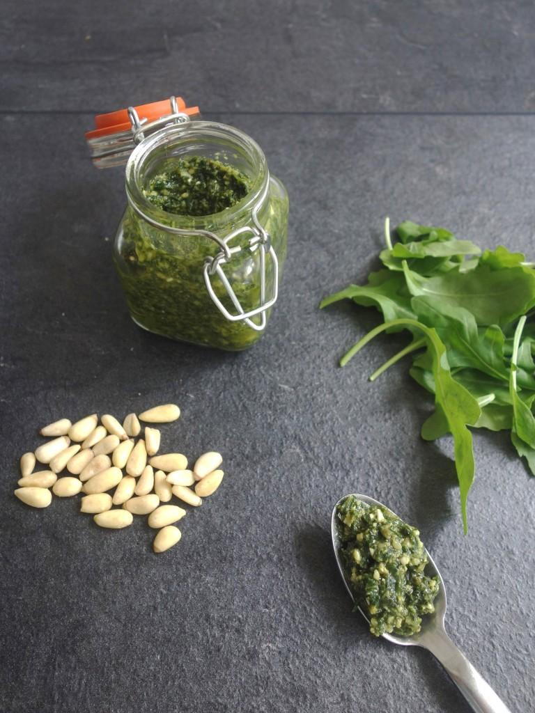 easy rocket basil pesto recipe