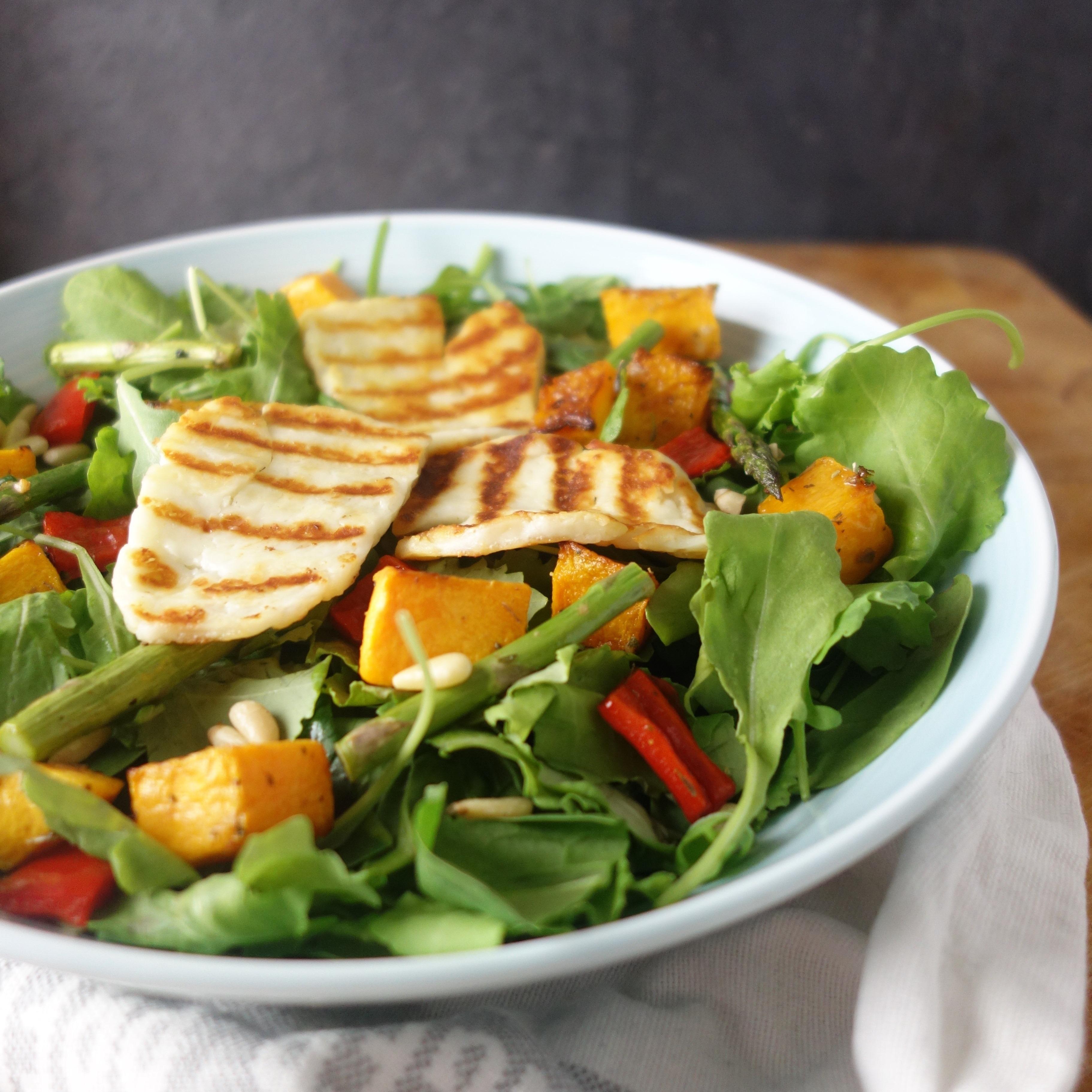 Warm Halloumi Butternut Squash Salad