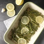 Lemon + Garlic Roasted Green Beans