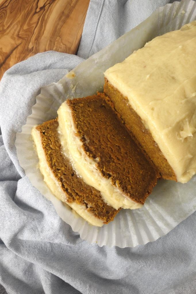 brown-butter-pumpkin-loaf-maple-frosting