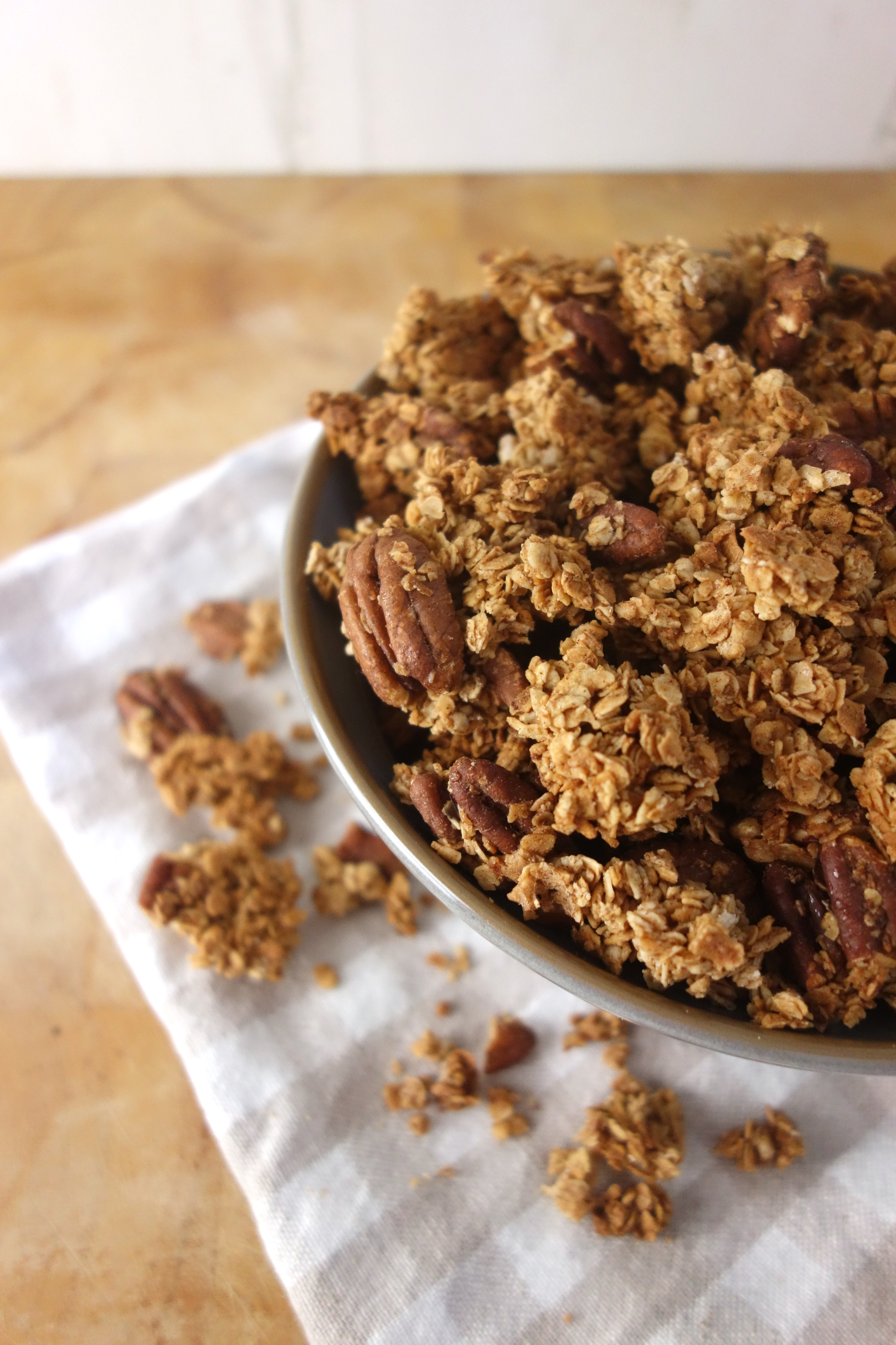 Cinnamon Maple Pecan Granola - A Dash of Ginger