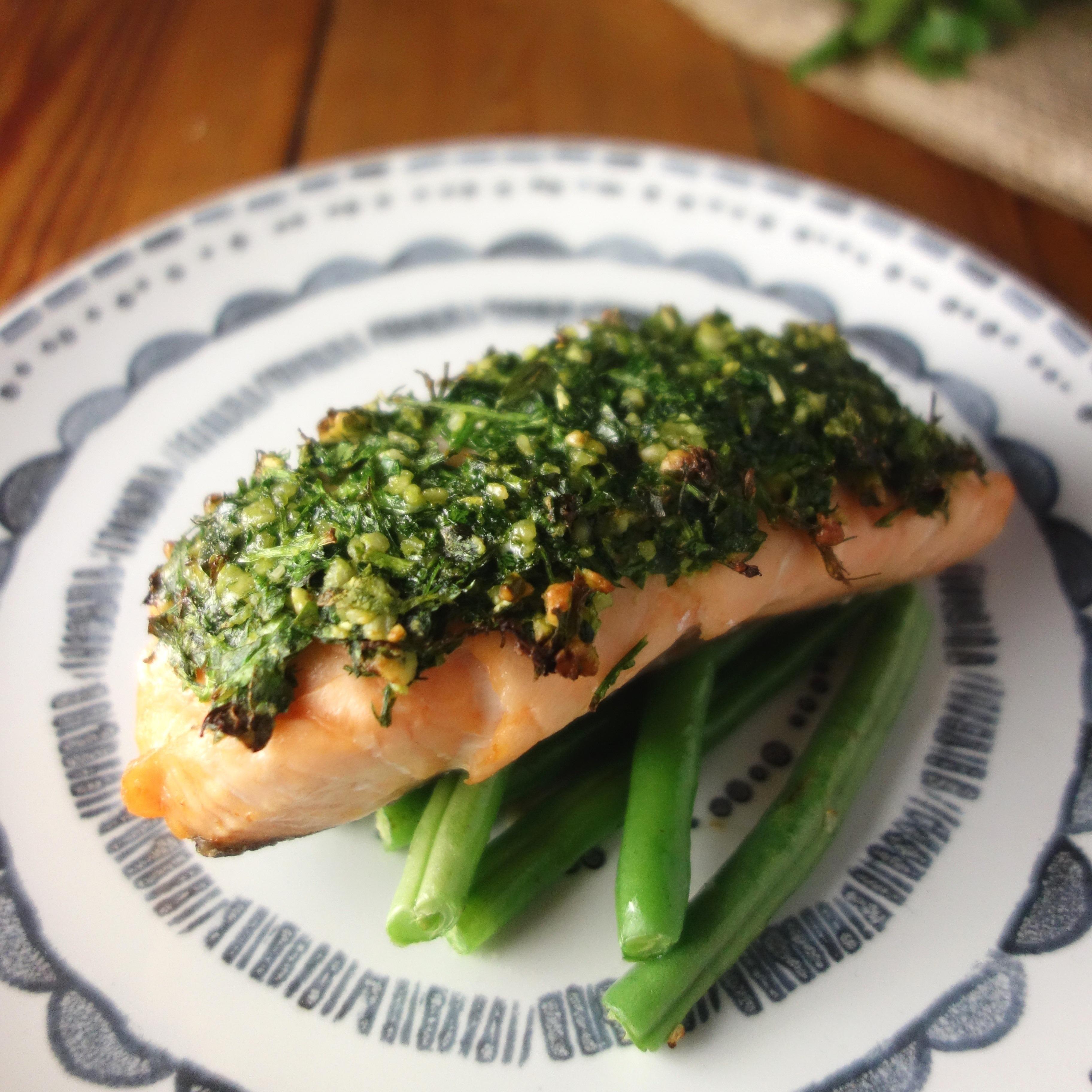Mustard Herb Crusted Salmon