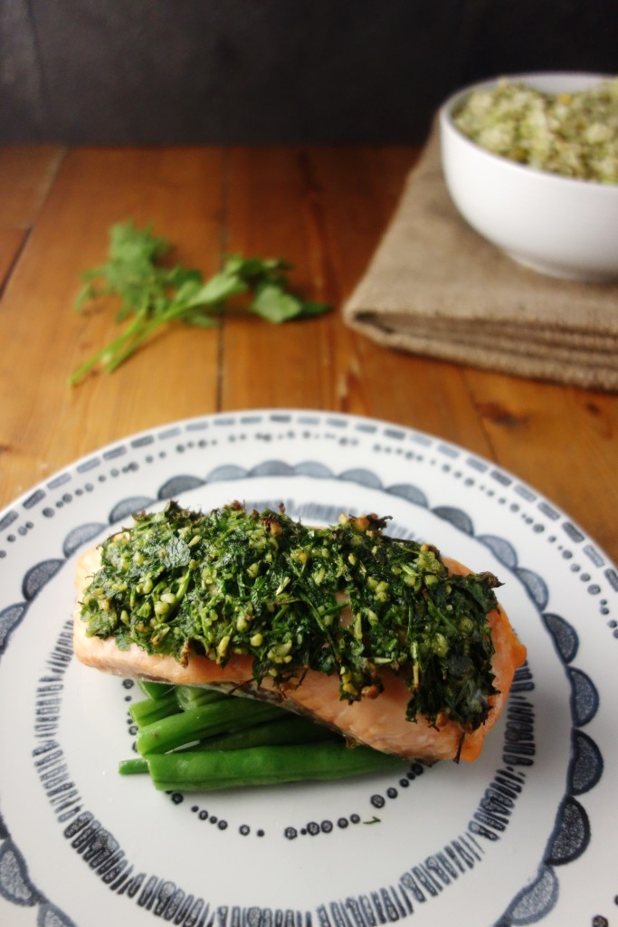 Mustard Herb Crusted Salmon