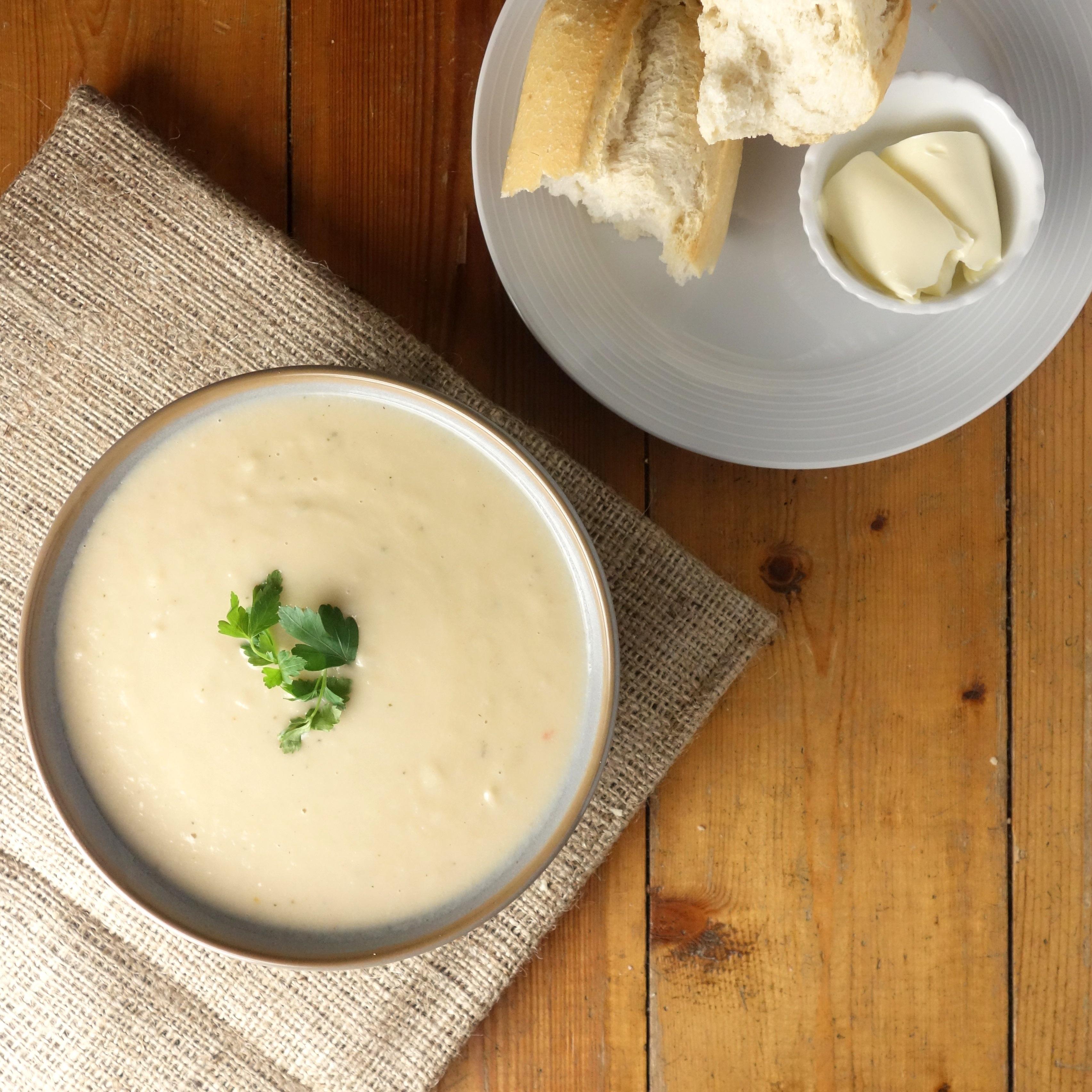 Roast Parsnip Parmesan Soup