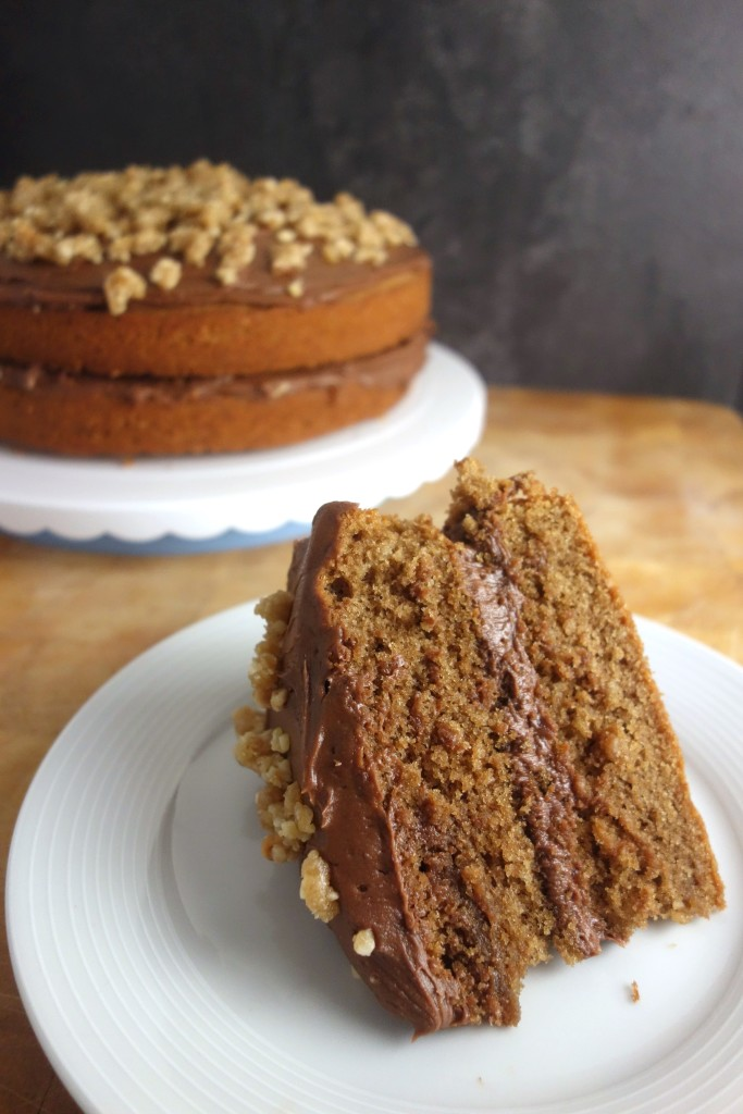 nutella frosted coffee cake