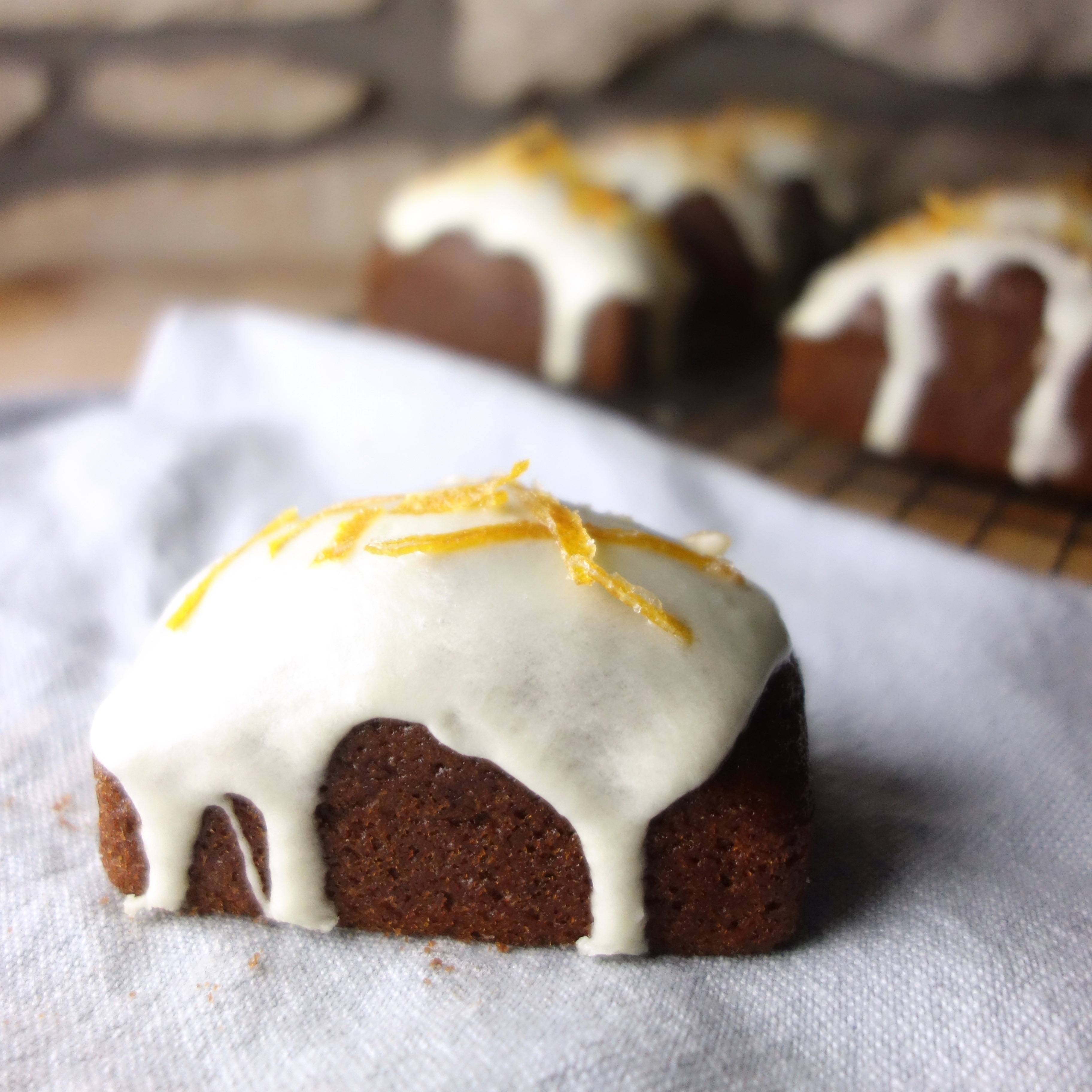 Mini Gingerbread Loaves + Candied Orange