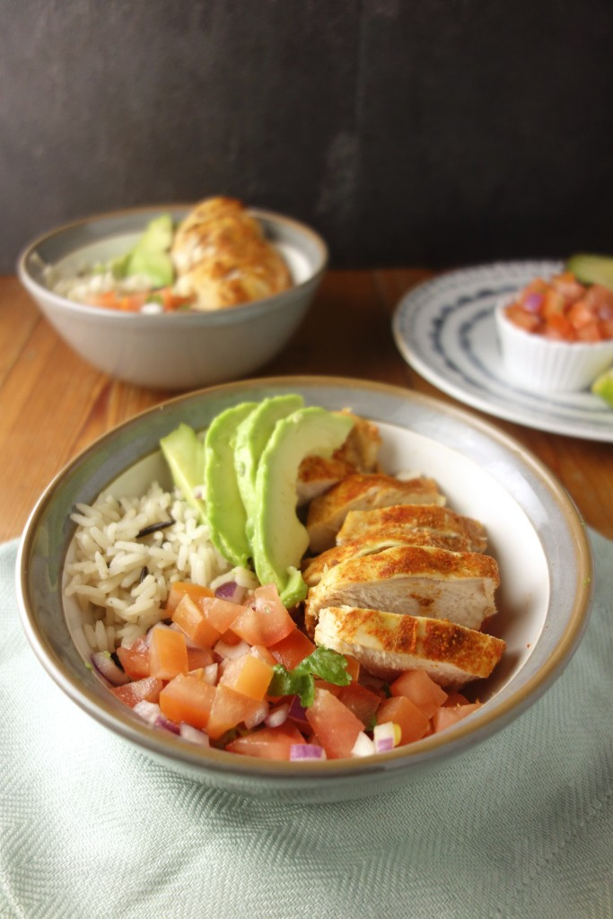paprika chicken burrito bowls