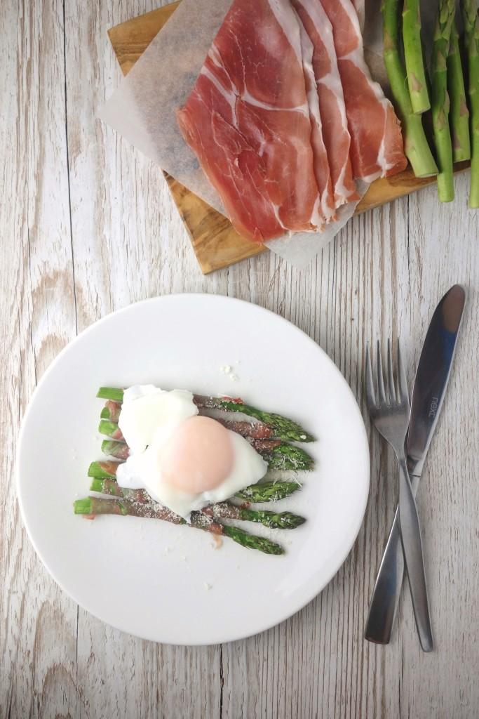 prosciutto wrapped asparagus poached egg recipe