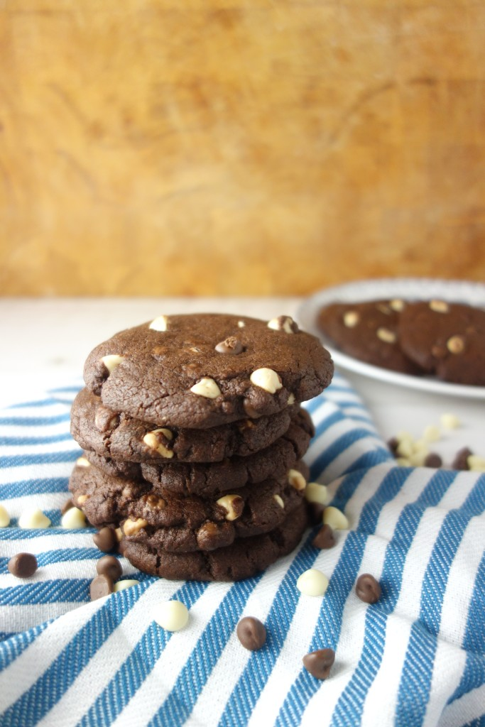 Triple Chocolate Cookies - A Dash of Ginger