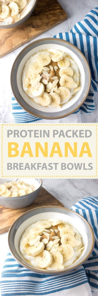 banana protein breakfast bowls
