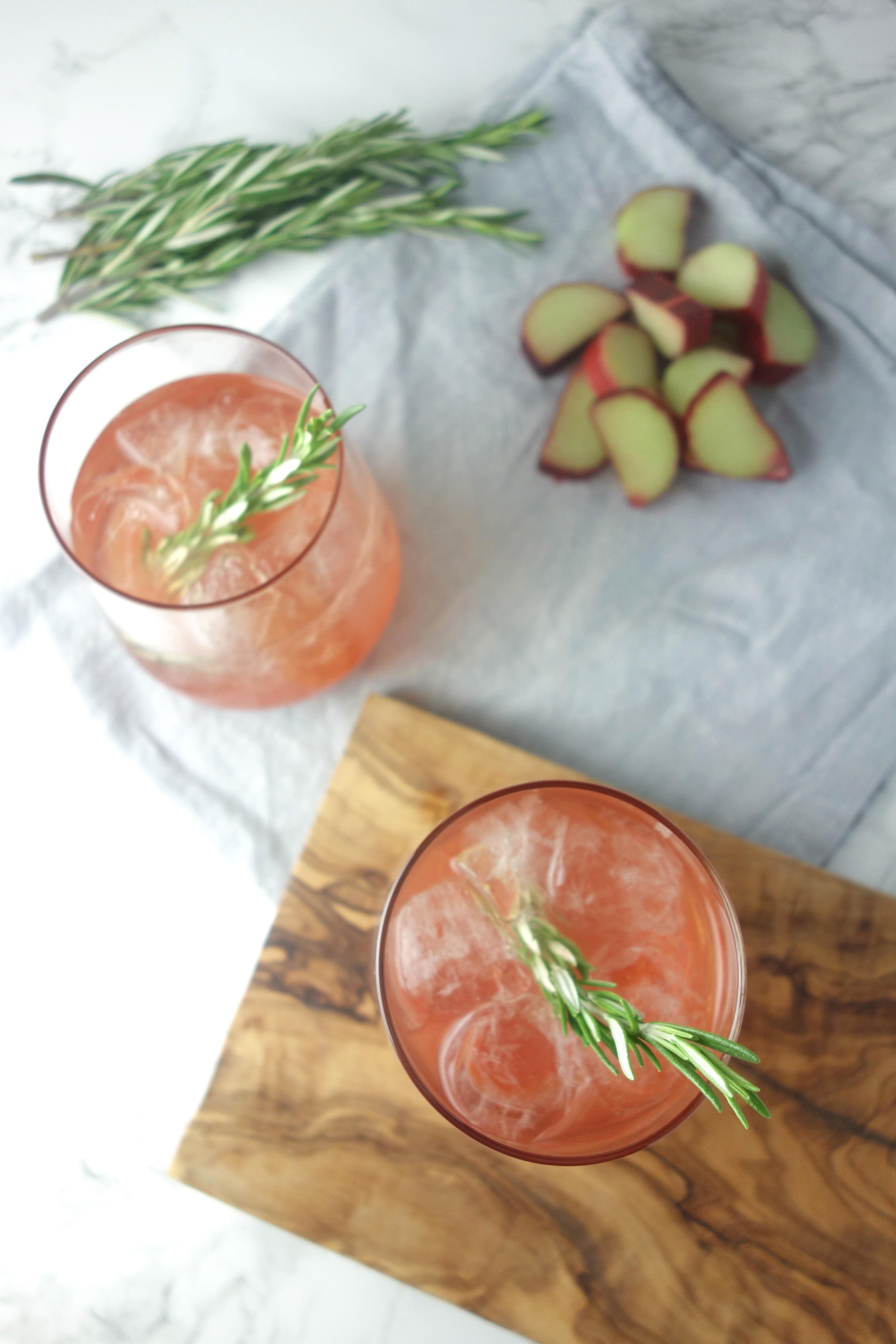rhubarb elderflower gin