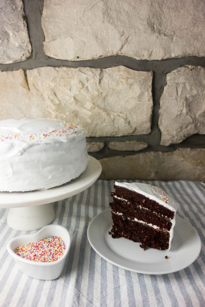 chocolate coconut layer cake