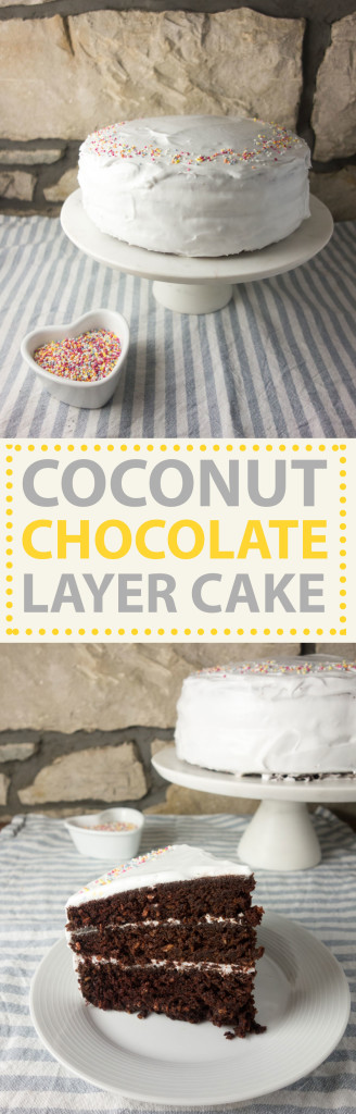 chocolate coconut layer cake