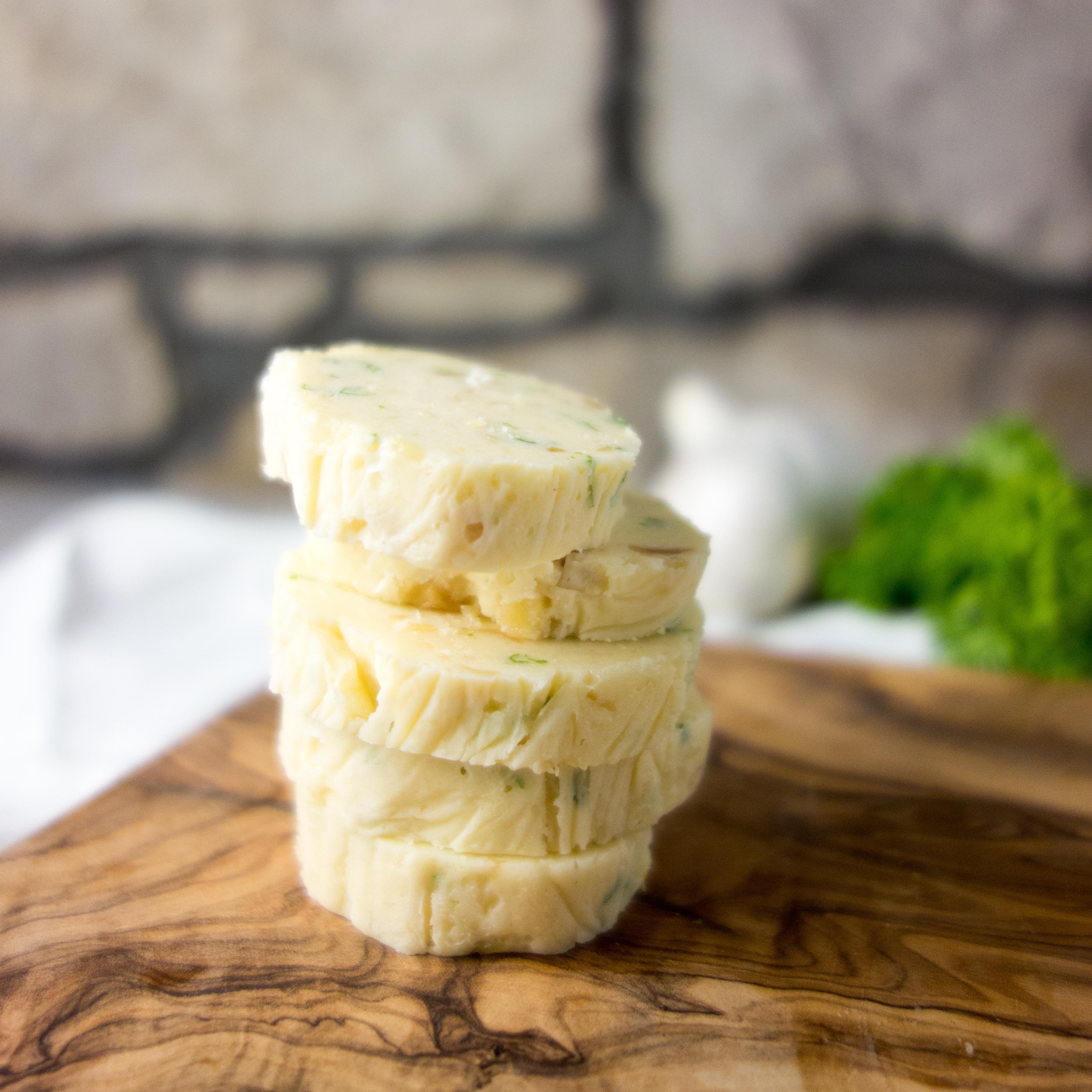Homemade Roasted Garlic Butter - A Dash of Ginger