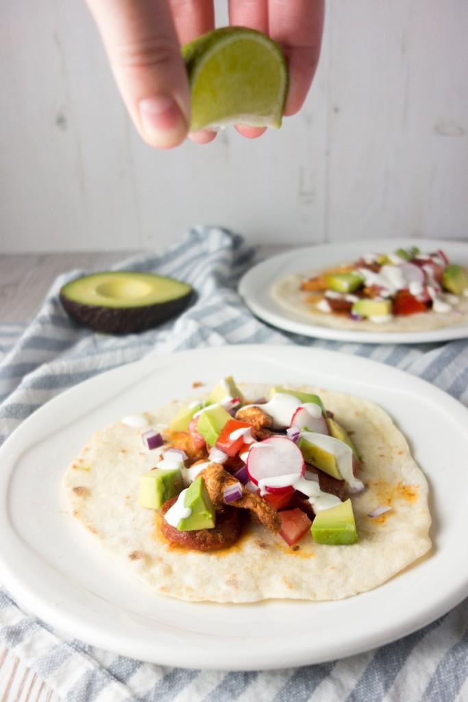 chicken chorizo tacos