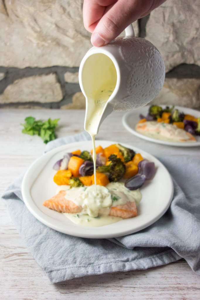 baked salmon white wine cream sauce