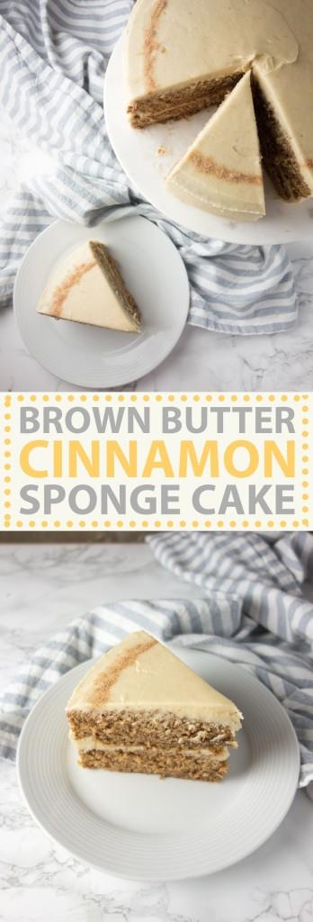 cinnamon sponge cake