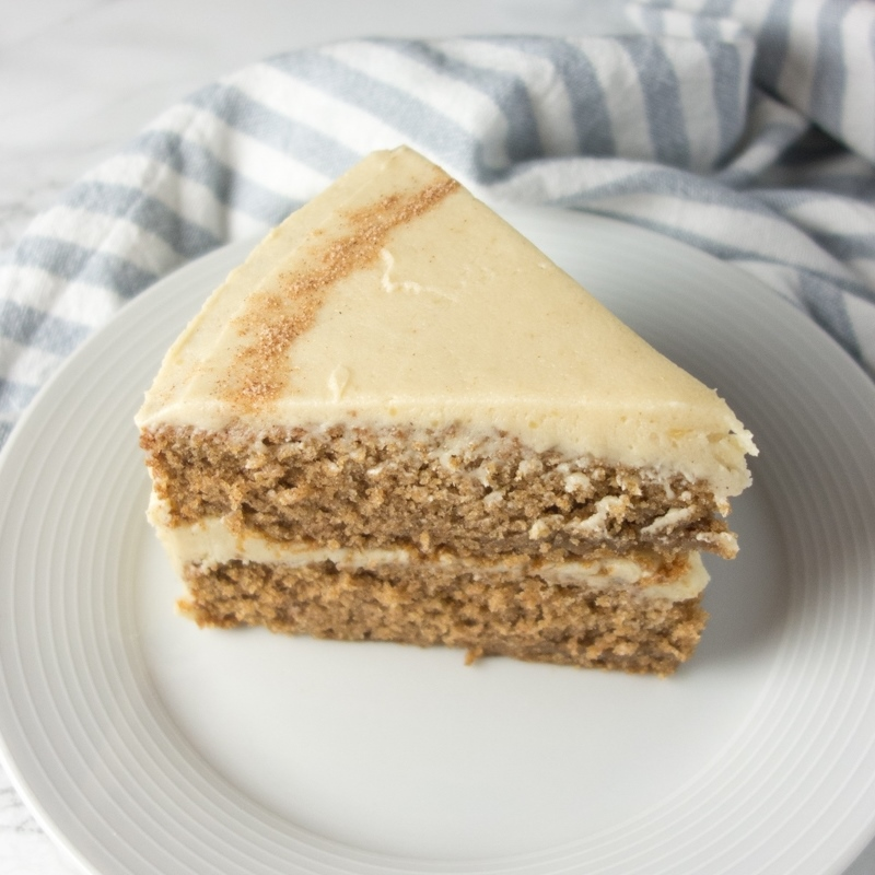 Cinnamon Sponge Cake + Brown Butter Frosting
