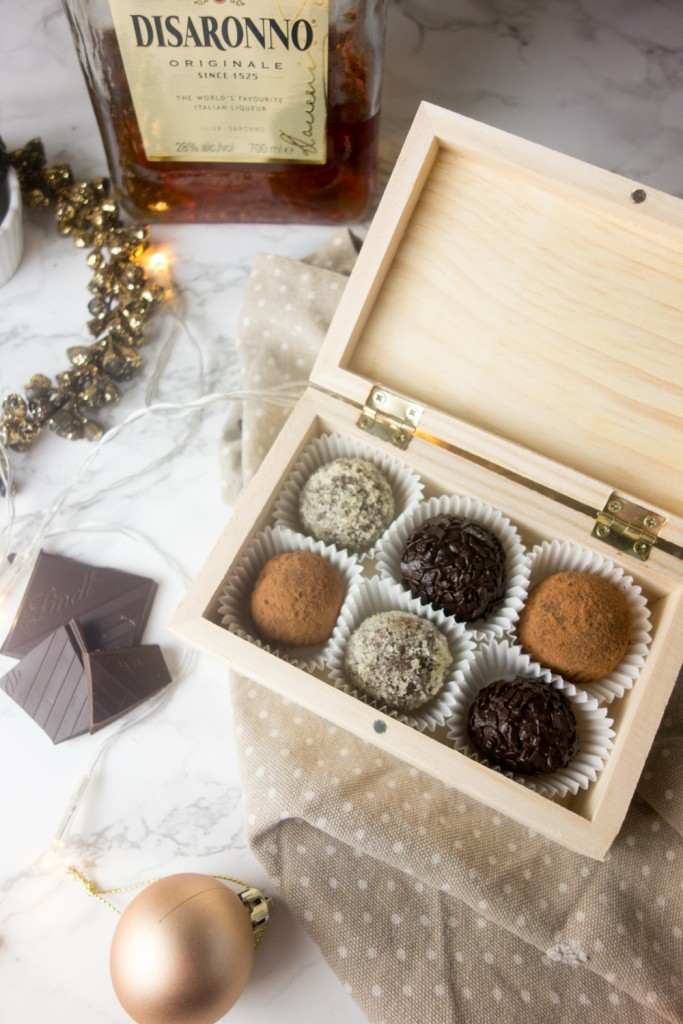 amaretto chocolate truffles