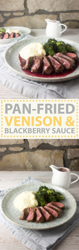 pan-fried venison blackberry sauce pinterest