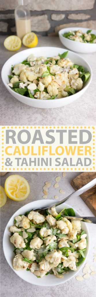 cauliflower tahini salad