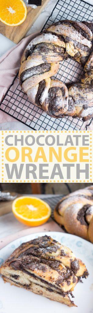 chocolate orange bread wreath