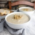vegan cauliflower & chestnut soup